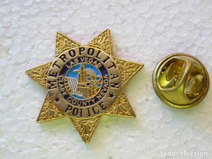 PIN POLICIAL. POLICÍA DE ESTADOS UNIDOS. METROPOLITAN POLICE DE LAS VEGAS, NEVADA (Militar - Insignias Militares Internacionales y Pins)