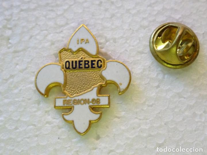 PIN POLICIAL. POLICÍA DE CANADÁ. QUEBEC REGION 08 IPA INTERNATIONAL POLICE ASSOCIATION (Militar - Insignias Militares Internacionales y Pins)