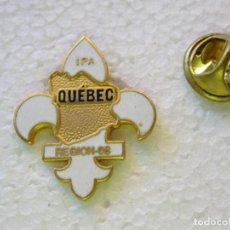 Militaria: PIN POLICIAL. POLICÍA DE CANADÁ. QUEBEC REGION 08 IPA INTERNATIONAL POLICE ASSOCIATION. Lote 257334860