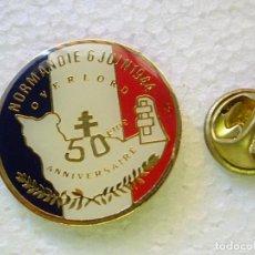 Militaria: PIN MILITAR. 50 ANIVERSARIO OPERACIÓN OVERLORD. DESEMBARCO DE NORMANDÍA 1944 1994 SEGUNDA GUERRA MUN. Lote 257335360