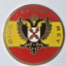 Militaria: INSIGNIA CHAPA PLACA CARLISTA, REQUETES DIOS PATRIA REY DE LATON. Lote 258115550