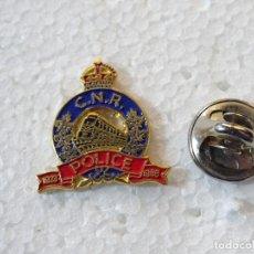 Militaria: PIN MILITAR POLICIAL. POLICIA FERROVIARIA DE CANADÁ. CNR POLICE. TREN FERROCARRILES. Lote 258142525