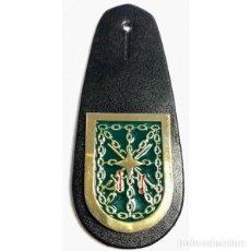 Militaria: PEPITO LEGIÓN TRECE BANDERA GENERAL MOLA - CUERO NEGRO. Lote 258975075