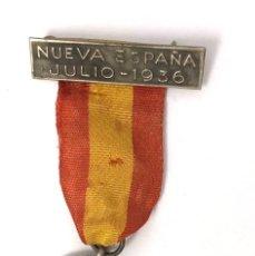 Militaria: MEDLLA INSIGNIA NUEVA ESPAÑA JULIO 1936. GUERRA CIVIL ESPAÑOLA. VIRGEN DEL PILAR Y SANTIAGO. Lote 261526085