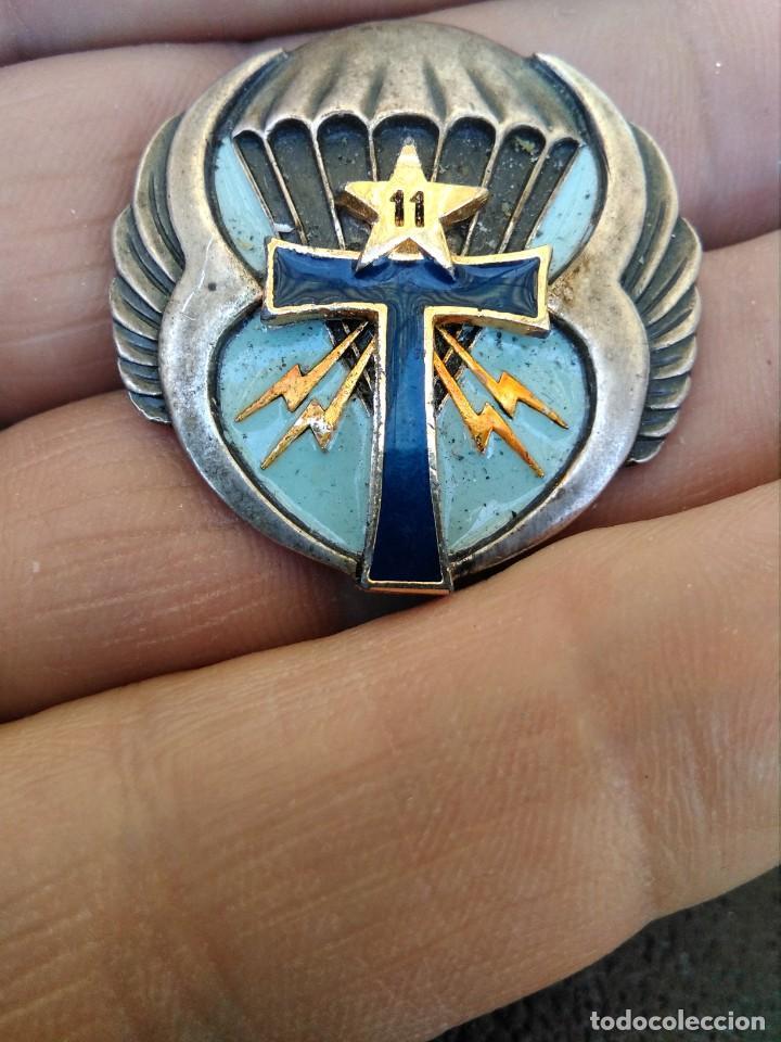 INSIGNIA ESMALTADA PARACAIDITA EJERCITO FRANCES , PARACHUTISTAS REGIMIENTO IDENTIFICAR (Militar - Insignias Militares Internacionales y Pins)