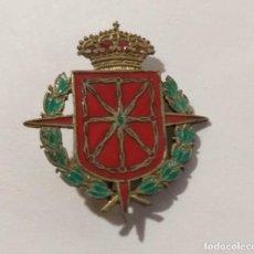 Militaria: INSIGNIA 1936-1939 CUERPO DEL EJERCITO DE NAVARRA ESMALTE Y LATÓN. Lote 262303190