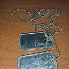 Militaria: CHAPAS MARINES U.S.A.. Lote 263195260