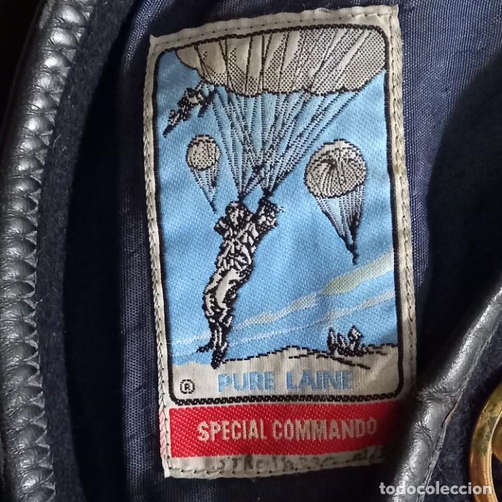 Militaria: Antigua boina militar especial comando pura lana posiblemente artillería - Foto 3 - 266521068