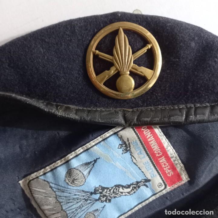 Militaria: Antigua boina militar especial comando pura lana posiblemente artillería - Foto 4 - 266521068