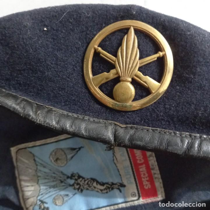 Militaria: Antigua boina militar especial comando pura lana posiblemente artillería - Foto 7 - 266521068