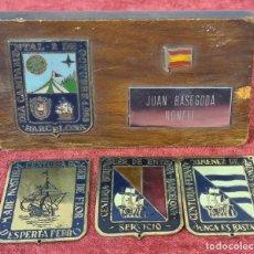 Militaria: COLECCION DE 5 PLACAS DE CENTURIA AZUL. FALANGE ESPAÑOLA. CIRCA 1940.. Lote 267040574