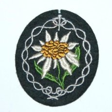 Militaria: INSIGNIA DE MANGA PARA TROPA DE MONTAÑA - GEBIGRSJAGER - EDELWEISS. Lote 268931979