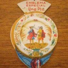 Militaria: EMBLEMA AUXILIO SOCIAL, ESPECIAL 1 PTS, SERIE J, Nº 5, EL BUEN RETIRO (PLATO). Lote 268968294