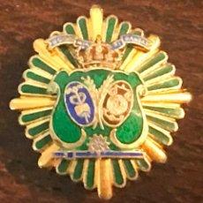 Militaria: MINIATURA DE SOLAPA DE PLACA ECONOMIA Y FINANZAS, MIDE 2,5 CMS.. Lote 269206643