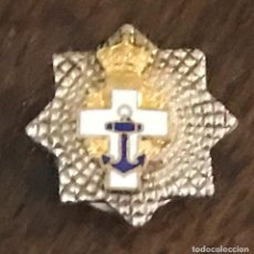 Militaria: INSIGNIA DE SOLAPA PLACA AL MÉRITO NAVAL MARINA, DISTINTIVO BLANCO, ÉPOCA JUAN CARLOS I, MIDE 1,8 CM. Lote 269219198