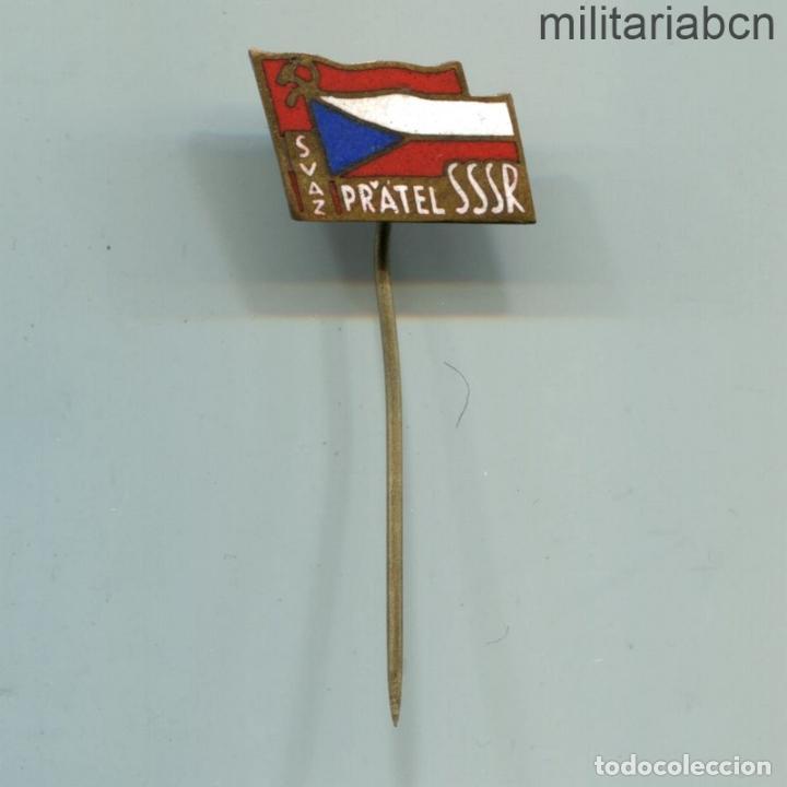 REPÚBLICA SOCIALISTA DE CHECOSLOVAQUIA. INSIGNIA SOLAPA DE LA SSSR ASOCIACIÓN DE AMIGOS DE LA URSS (Militar - Insignias Militares Internacionales y Pins)