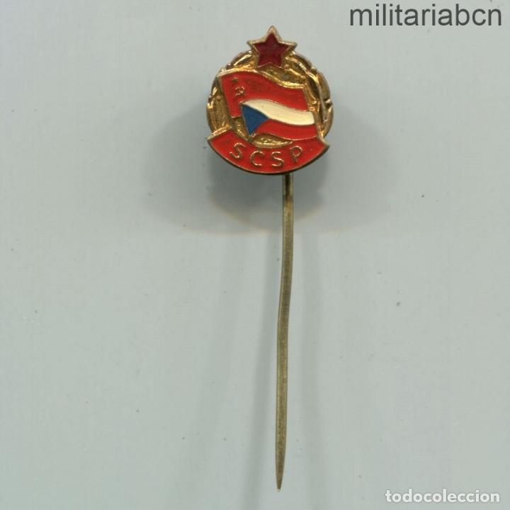 REPÚBLICA SOCIALISTA DE CHECOSLOVAQUIA. INSIGNIA SOLAPA DE LA SCSP ASOCIACIÓN DE AMIGOS DE LA URSS (Militar - Insignias Militares Internacionales y Pins)