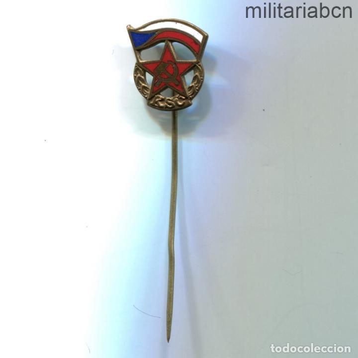 REPÚBLICA SOCIALISTA DE CHECOSLOVAQUIA. INSIGNIA SOLAPA DEL KSC PARTIDO COMUNISTA DE CHECOSLOVAQUIA (Militar - Insignias Militares Internacionales y Pins)
