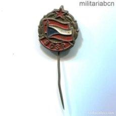 Militaria: REPÚBLICA SOCIALISTA DE CHECOSLOVAQUIA. INSIGNIA SOLAPA DE LA SCSP ASOCIACIÓN DE AMIGOS DE LA URSS. Lote 269361628