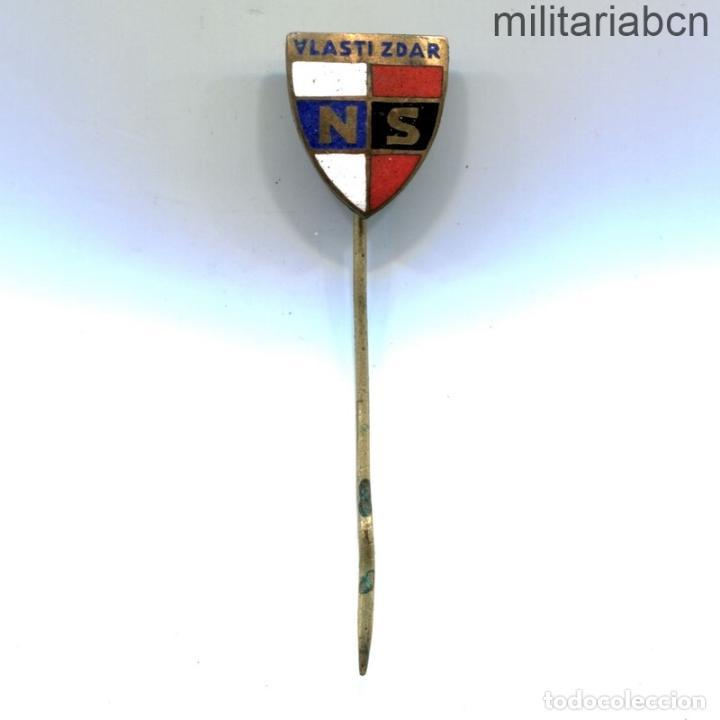 Militaria: Protectorado de Bohemia Moravia. Insignia solapa de la Organización Colaboracionista NS Vlasti Zdar - Foto 2 - 269370278