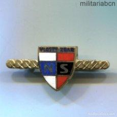 Militaria: PROTECTORADO DE BOHEMIA MORAVIA. INSIGNIA SOLAPA DE LA ORGANIZACIÓN COLABORACIONISTA NS VLASTI ZDAR. Lote 269370748