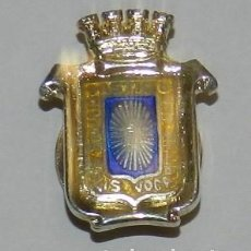Militaria: INSIGNIA DE SOLAPA DE ECIJA (SEVILLA), REALIZADA EN PLATA, ESMALTADA A FUEGO, MIDE 2 CMS.. Lote 269615073