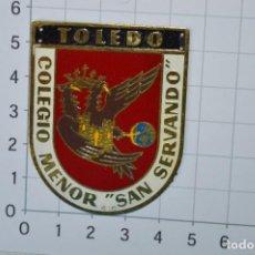 """Militaria: PLACA DE BRAZO / COLEGIO MENOR """"SAN SERVANDO"""" - TOLEDO / OJE FRENTE DE JUVENTUDES Y FALANGE ¡MIRA!. Lote 269636903"""