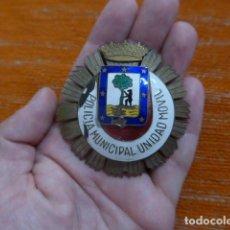 Militaria: ANTIGUO EMBLEMA DE PECHO DE LA POLICIA MUNICIPAL UNIDAD MOVIL DE MADRID. FRANQUISTA, EPOCA FRANCO.. Lote 270643238
