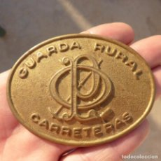 Militaria: ANTIGUA PLACA O CHAPA INSIGNIA , GUARDA RURAL DE CARRETERAS , PEON CAMINERO. Lote 274017258