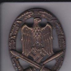 Militaria: EMBLEMA MILITAR NAZI - AGUILA-ESPADAS Y SIMBOLO - TAMAÑO 5,5CM X 4CM. Lote 275878548