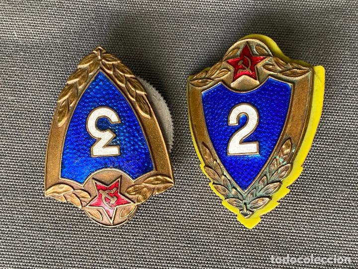 SOVIET ARMY BREAST BADGES 3 RD. Y 2 RD. CLASS . SPECIALIST USSR MILITARY RANK BADGES (Militar - Insignias Militares Internacionales y Pins)