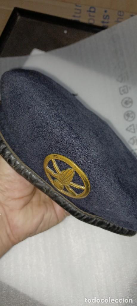 Militaria: Antigua boina militar especial comando pura lana posiblemente artillería - Foto 10 - 266521068