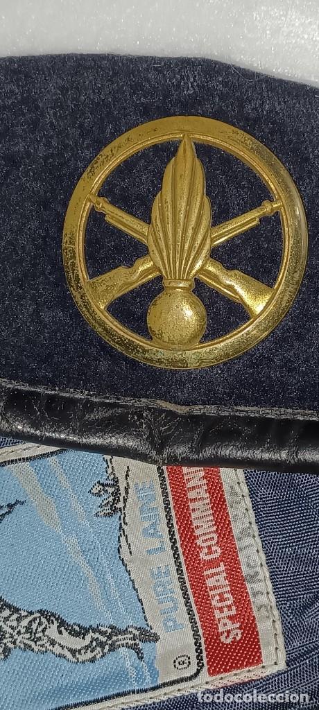 Militaria: Antigua boina militar especial comando pura lana posiblemente artillería - Foto 13 - 266521068