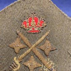Militaria: HOMBRERA MILITAR INSIGNIA TENIENTE GENERAL JUAN CARLOS I BORDADO CORONA 8X6CMS. Lote 281774643