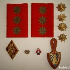 Militaria: LOTE INSIGNIAS MILITARES,ESTRELLAS,MILITAR.INSIGNIA AÑOS DE PAZ.. Lote 284410253
