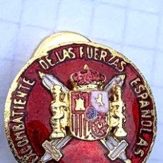Militaria: INSIGNIA MILITAR EXCOMBATIENTES EJÉRCITO ESPAÑOL,ESPAÑA,SOLAPA. Lote 287900498