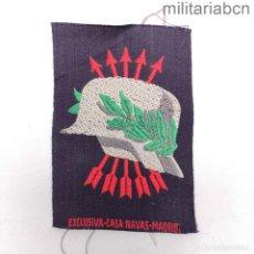 Militaria: INSIGNIA DE BRAZO DE EXCOMBATIENTES DE LA GUERRA CIVIL Y DE LA DIVISIÓN AZUL. FONDO AZUL.. Lote 288447493