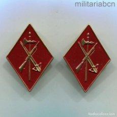 Militaria: ESPAÑA. PAREJA DE ROMBOS DE CUELLO DE TROPA. EPOCA DE FRANCO. MODELO DE LOS AÑOS 50-60. LEGIÓN. Lote 290081543