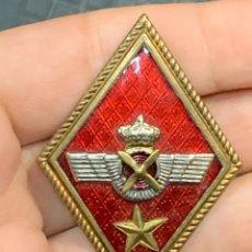 Militaria: INSIGNIA SOLAPA EJERCITO AIRE EPOCA JUAN CARLOS I AVIACION 5X3,5CMS. Lote 293621063