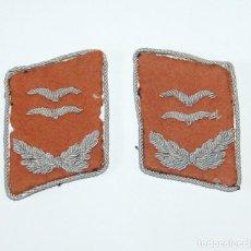 Militaria: INSIGNIAS DE CUELLO DE TENIENTE (OBERLEUTNANT) DE TRANSMISIONES DE LA LUFTWAFFE. Lote 283683928