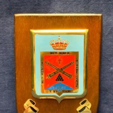 Militaria: PLACA R.A.C.A. 14 MUY NOBLE MUY HEROICA MUY LEAL INVICTA 20X13,5CMS. Lote 294443243