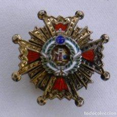 Militaria: MINIATURA DE LA GRAN CRUZ DE LA ORDEN DE ISABEL LA CATÓLICA. REALIZADA EN PLATA CON BAÑO DE ORO Y ES. Lote 295434688