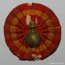 Militaria: ESCARAPELA DE ARTILLERÍA GUERRA DE CUBA 1871 -1898, PARA SOMBRERO DE JIPIJAPA DEL EJERCITO ESPAÑOL P. Lote 296781378