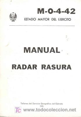 MANUAL RADAR RASURA (Militar - Libros y Literatura Militar)