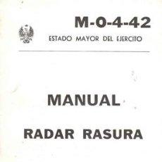 Militaria: MANUAL RADAR RASURA. Lote 26862694