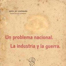 Militaria: 1924 UN PROBLEMA NACIONAL. LA INDUSTRIA Y LA GUERRA. Lote 26210230