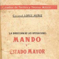Militaria: MANDO Y ESTADO MAYOR. Lote 20964749
