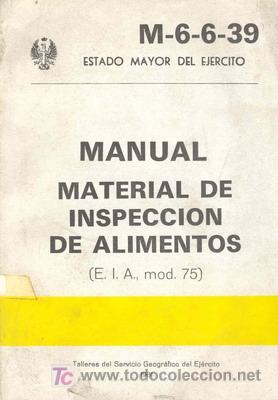 MANUAL MATERIAL INSPECCION DE ALIMENTOS (Militar - Libros y Literatura Militar)