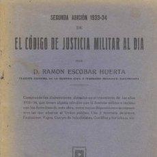 Militaria: 1935 EL CÓDIGO DE JUSTICIA MILITAR AL DÍA. Lote 26766152