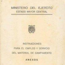 Militaria: 1950 MATERIAL MILITAR DE CAMPAMENTO. Lote 27604281